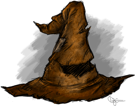 Hats drawing harry potter. The sorting hat by