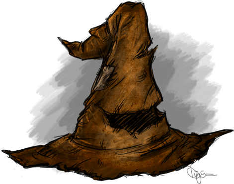 Hats drawing harry potter. Sorting hat the lexicon