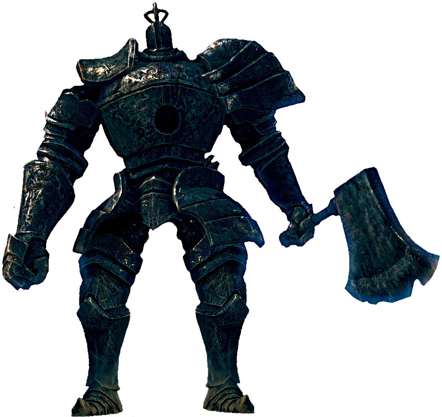 Soul transparent giant. Iron golem dark souls