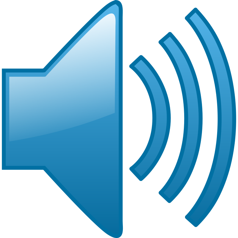 Sound waves clipart png. Blue audio free icons