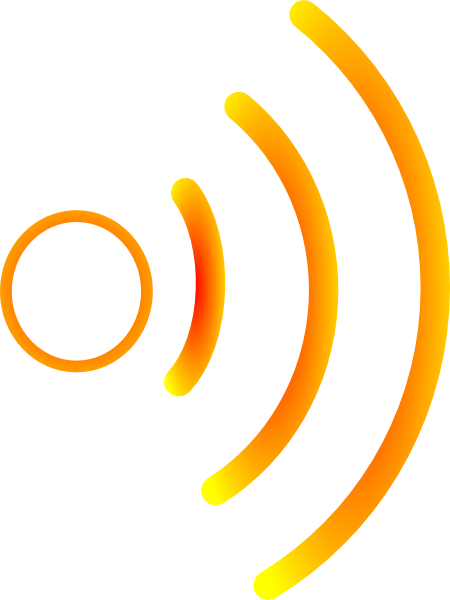 Sound waves clipart png. Radio yellow clip art