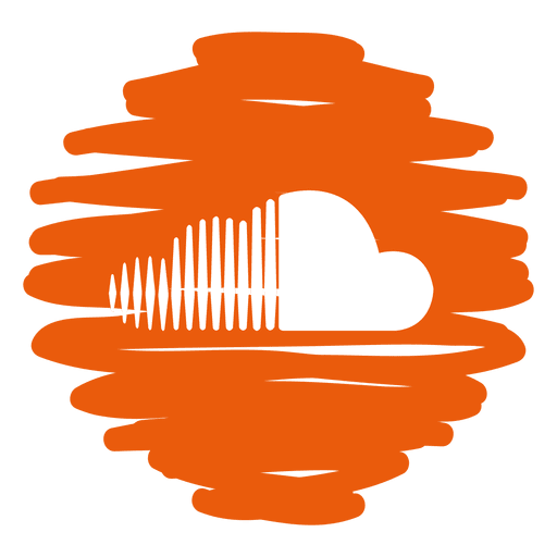 Soundcloud png logo. Distorted round icon transparent