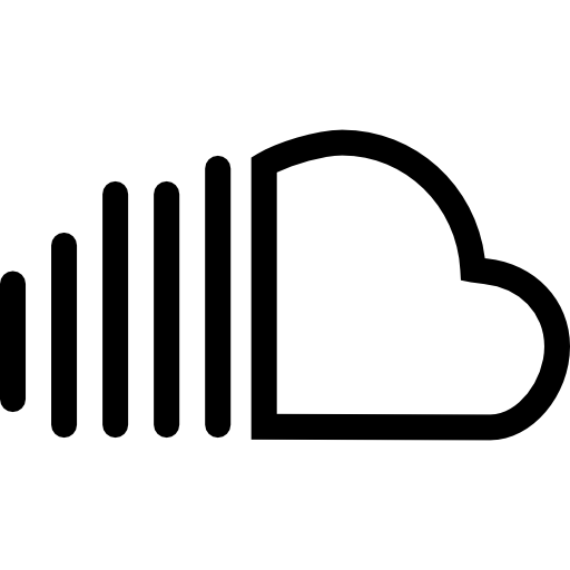 White soundcloud png. Social outlined logotype symbol