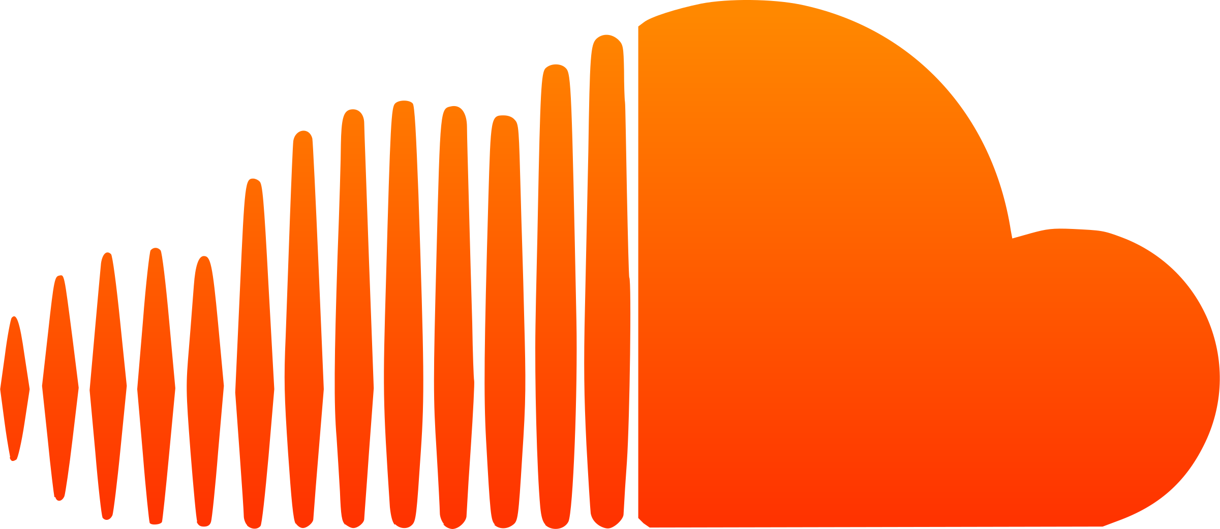 Soundcloud png logo. Icon transparent svg vector