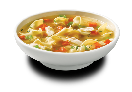 Bowl transparent soup. Png image with background