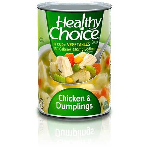 Soup can png. Chicken dumplings healthy choice