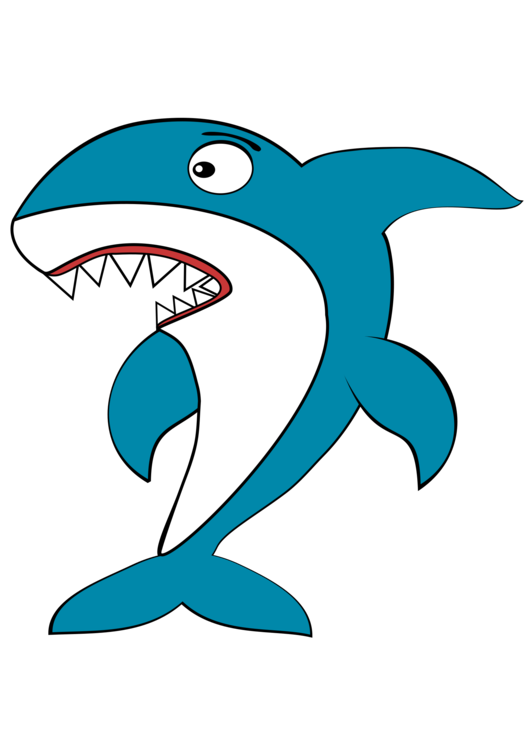 Baby shark clipart blue. Finning great white fin