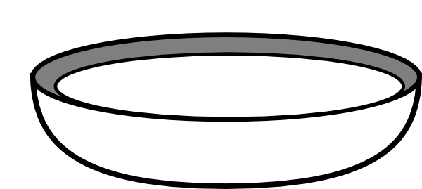 Bowl clipart saucer. In black and white
