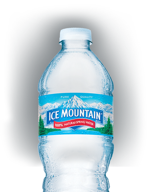 Vector nature spring. Bottled water ice mountain