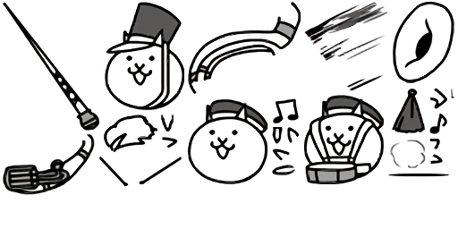 Sousaphone drawing black and white. Cats drumcorps banner cat