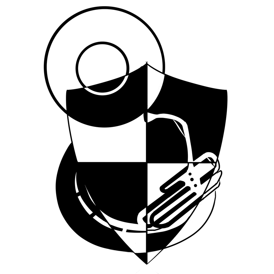Sousaphone drawing transparent. Tuba logo by tornd