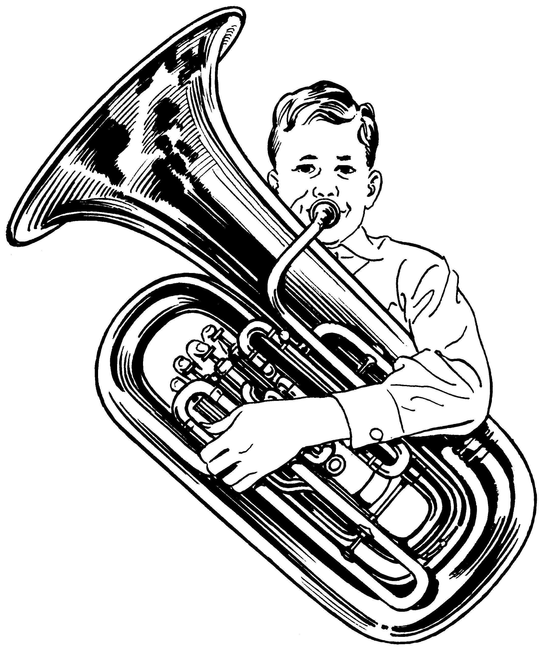 Sousaphone drawing pencil. Tuba google zoeken music