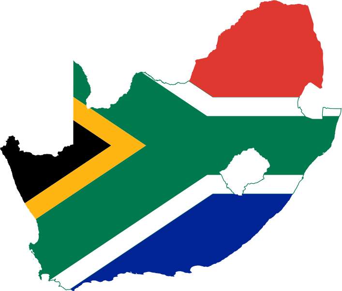 South africa png. File flag map of