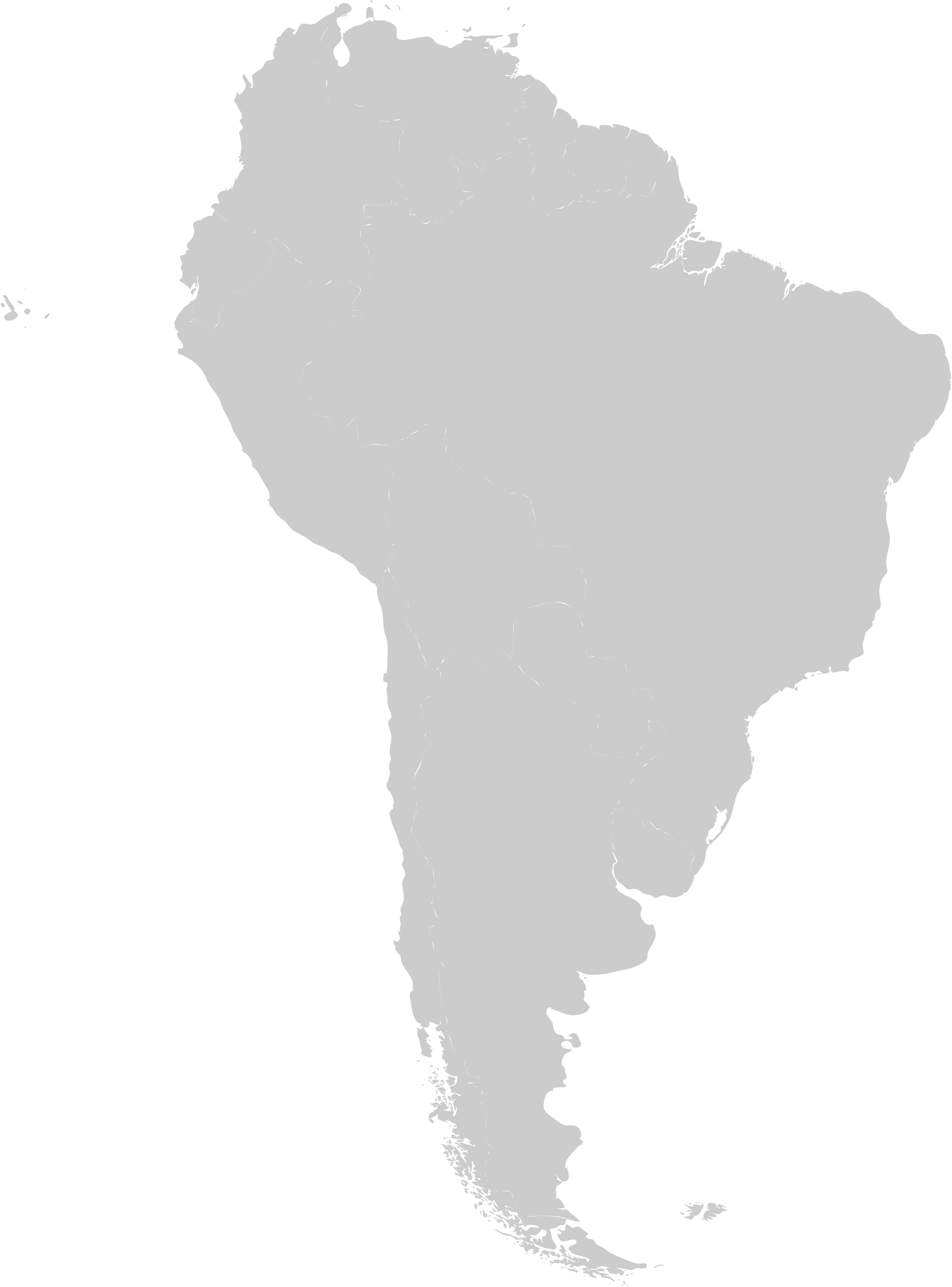 South america map png. File blank with galapagos