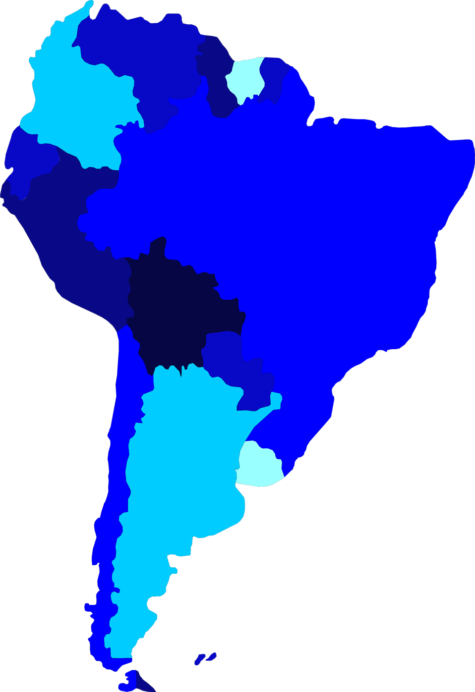 South america map png. Free stock photo illustrated