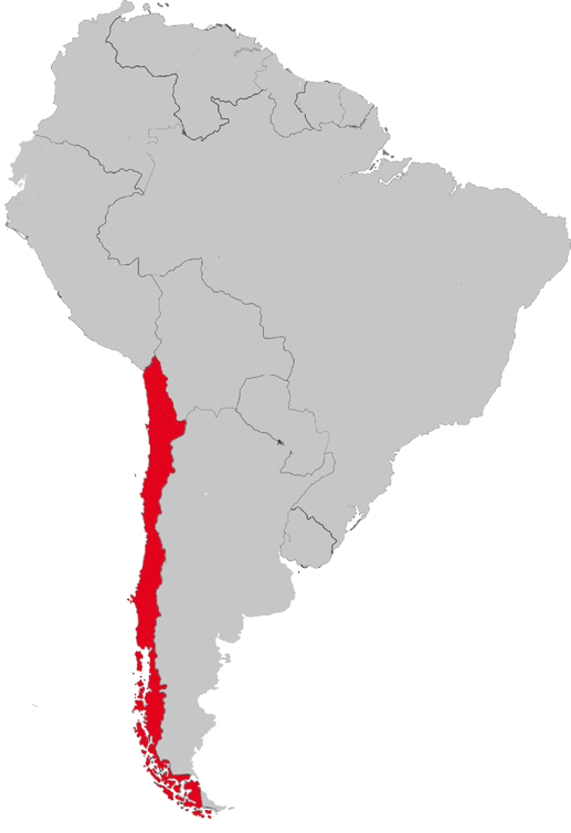South america map png. Casa valentina network chile
