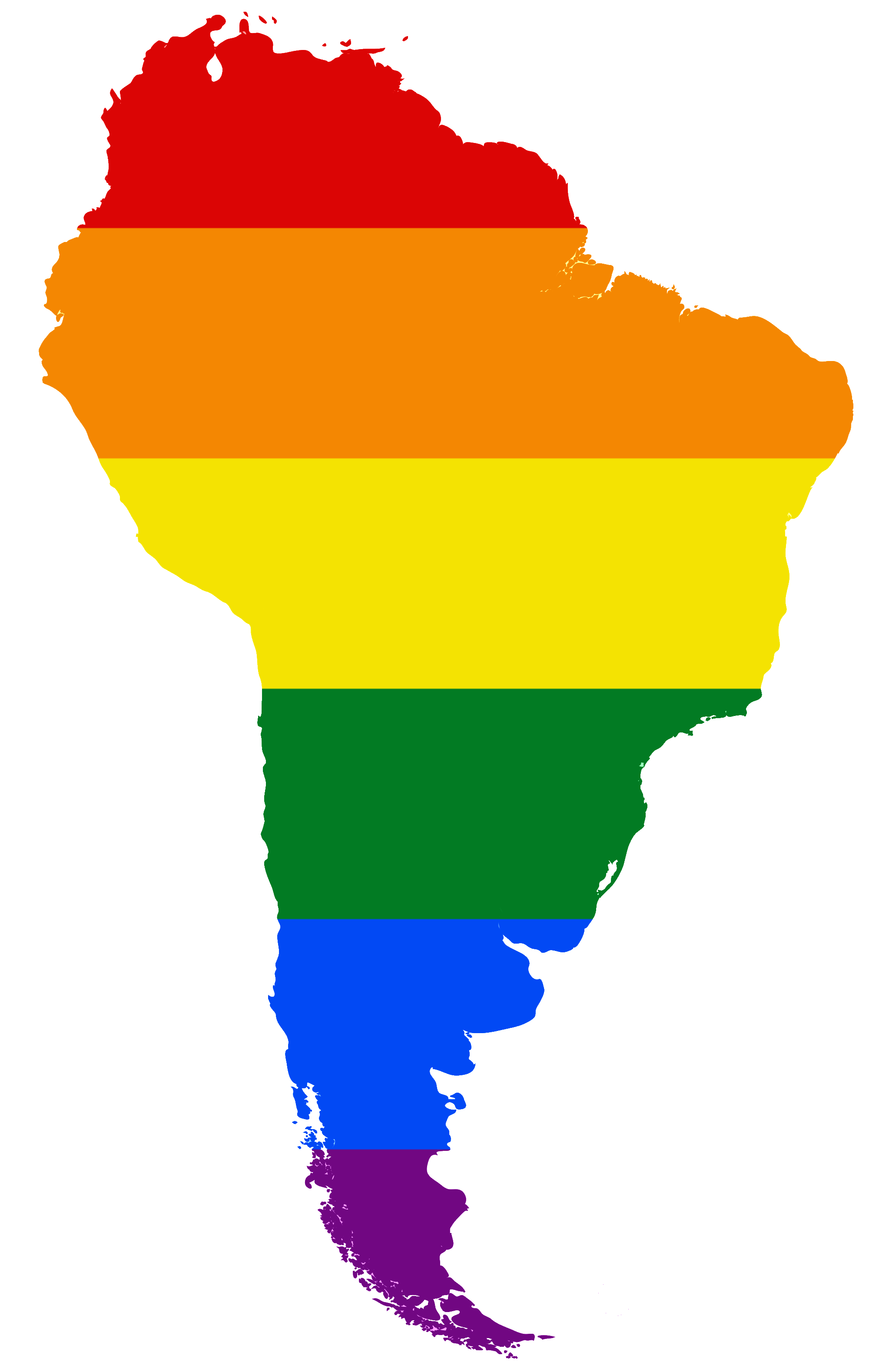South america png. Image lgbt flag map