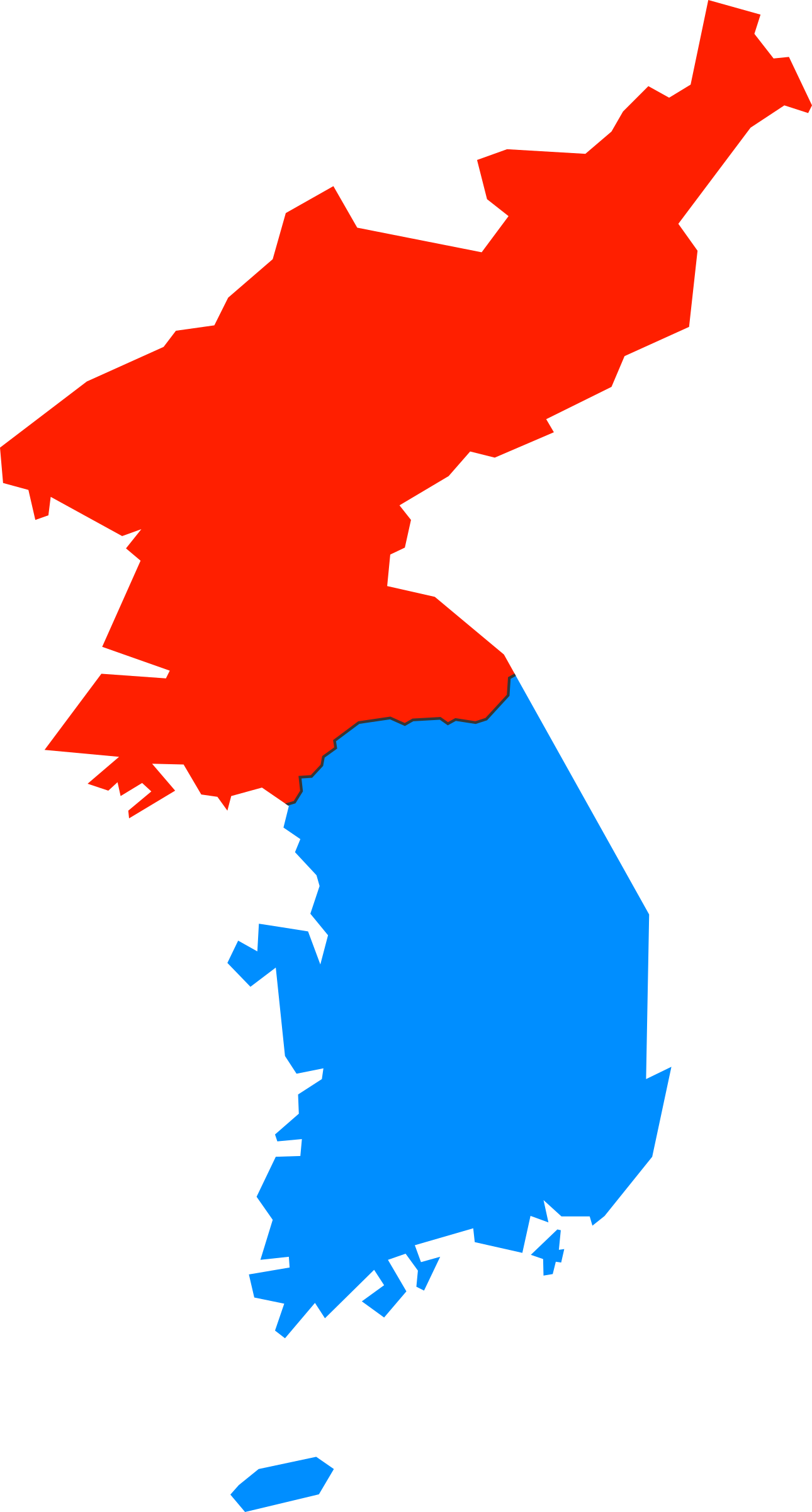 South korea map outline png. North and simple icons