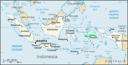 South Moluccas. Indonesia