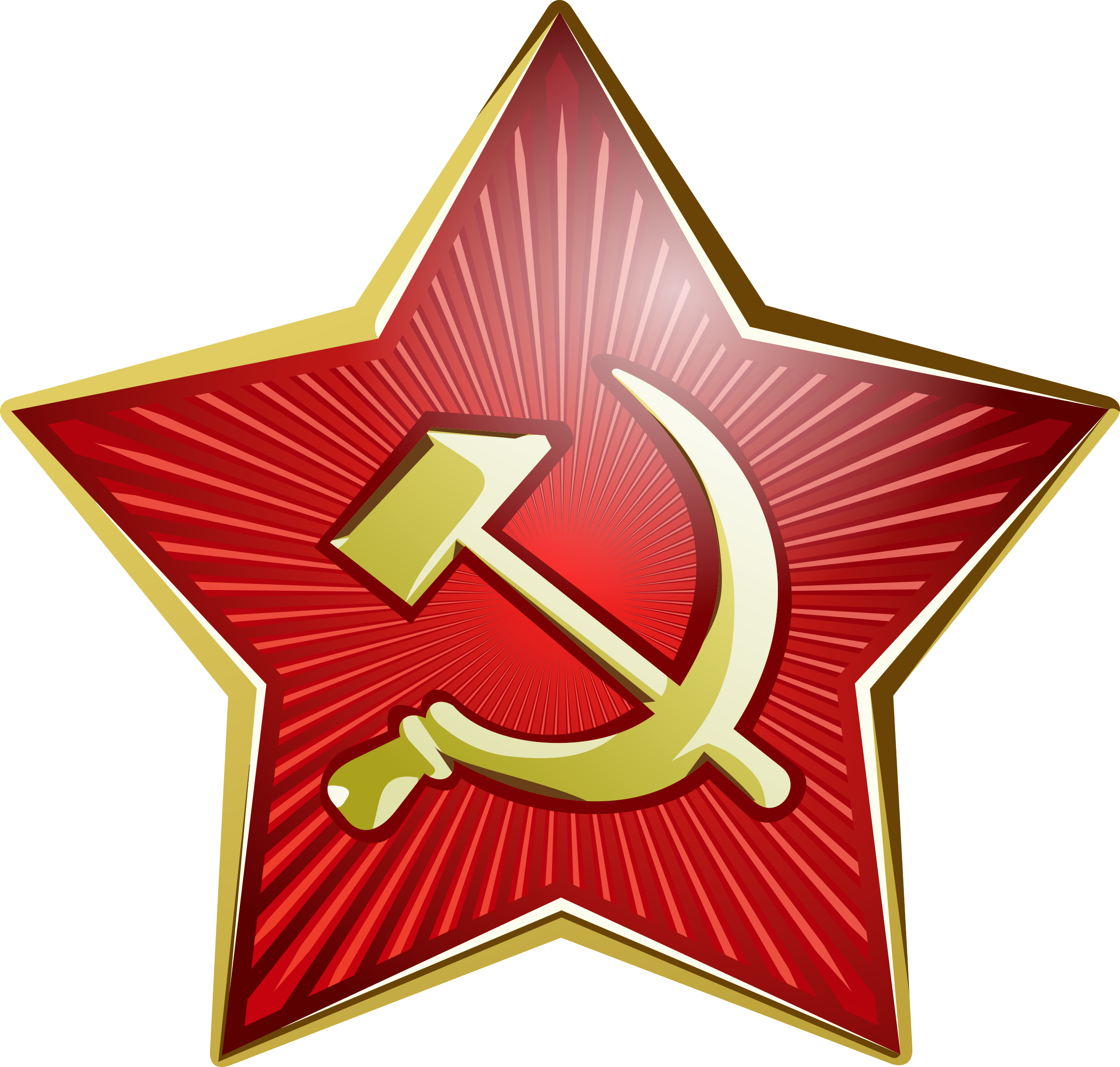 Soviet star png. Union hammer and sickle