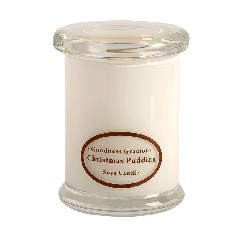 Soy candles png. Christmas pudding scented by