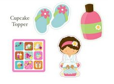 Spa clipart printable. Party gift bag free