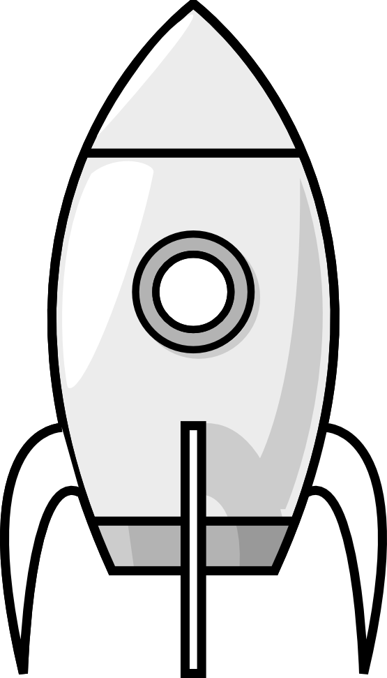 Drawing rockets black and white. Space rocket clip art