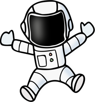 Nasa drawing. Space suit astronaut outer