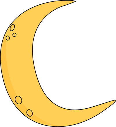 crescent clipart man in moon