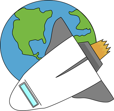 Earth clip cute. Flying in space clipart