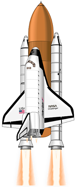 drawing rockets space shuttle
