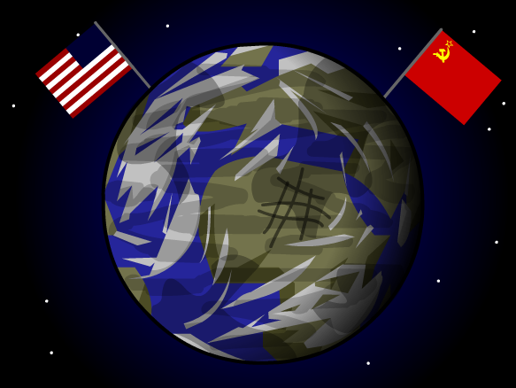 Space clipart space race. Cold war lesson plans