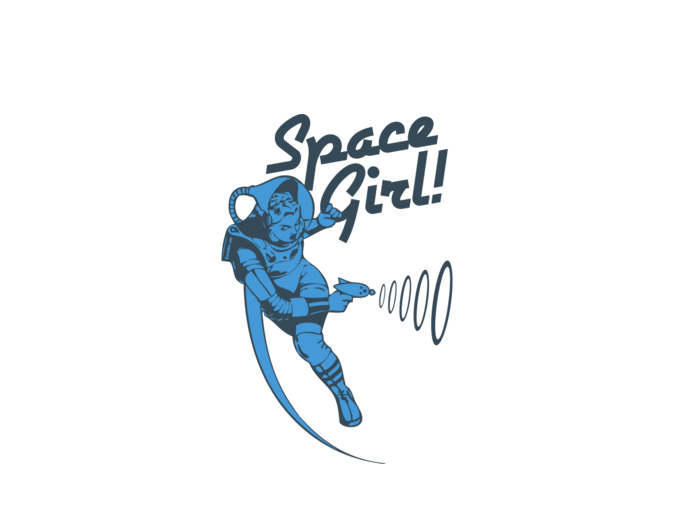 Space girl png. Mysoti gnome vintage blue