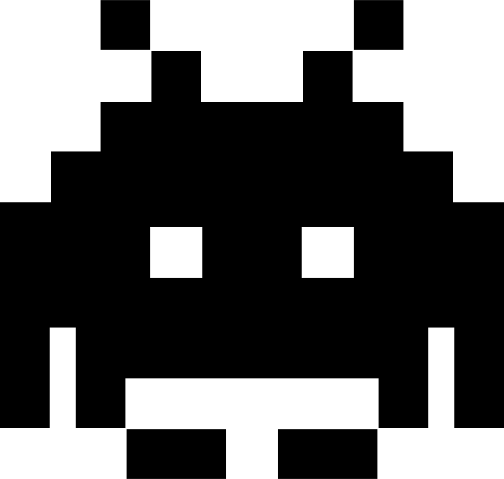 Space invader png. Invaders svg icon free