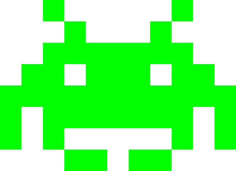 Space invaders alien png. Photo arts