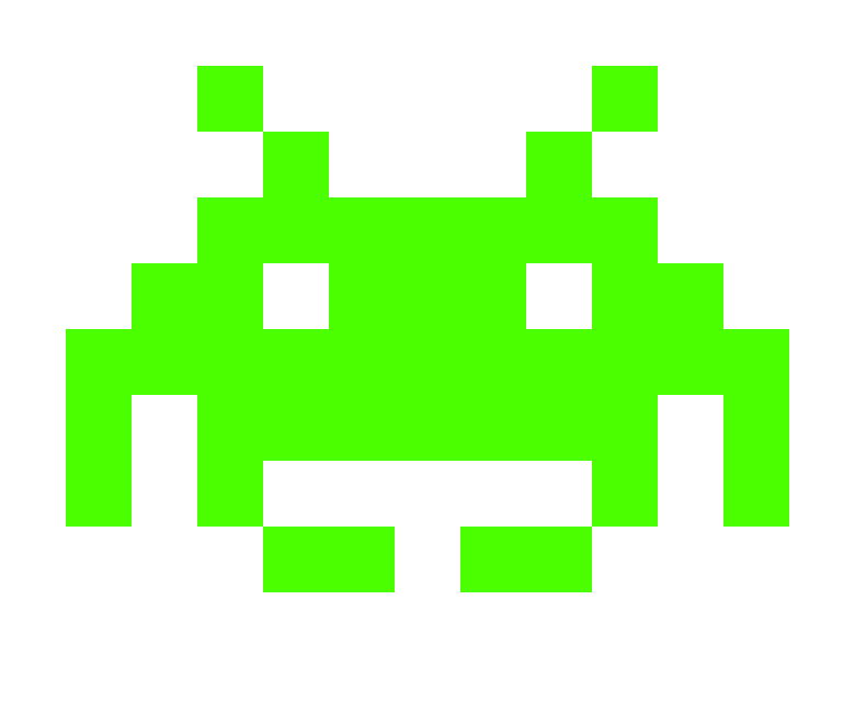 Space invaders png. By flayh on deviantart