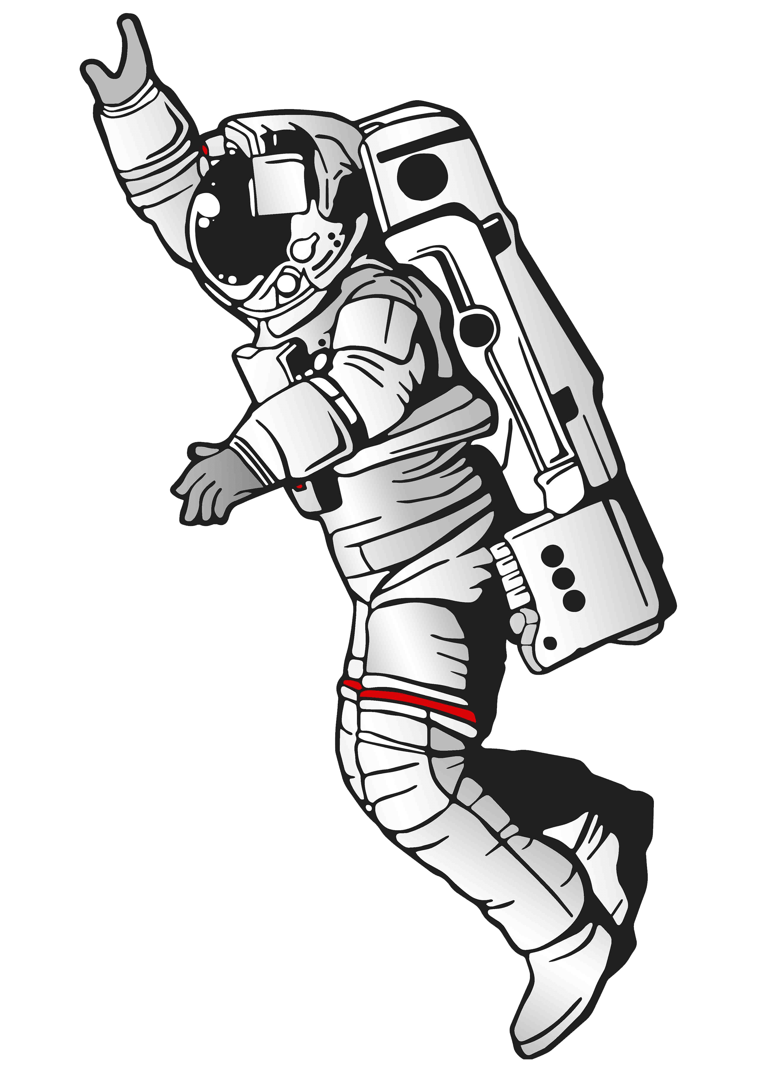 Drawing illustration space. Spaceman png hd transparent