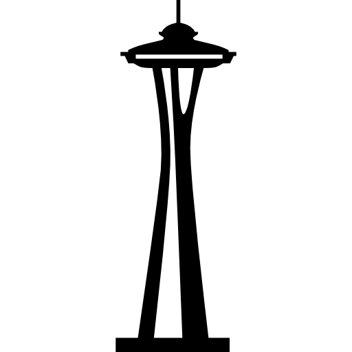 Seattle vector flat. Space needle free monuments