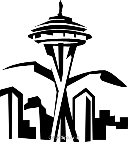 Space needle silhouette png. Seattle at getdrawings com