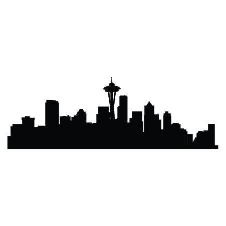 Seattle vector outline. Silhouette at getdrawings com