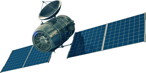 Space satellite png. Electric propulsion to inject