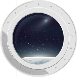 Space ship window png. View from spaceship sticker