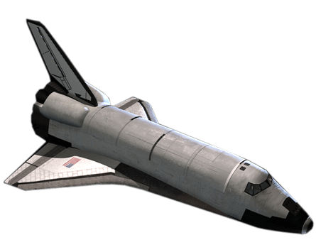 Space shuttle png. Top view transparent stickpng