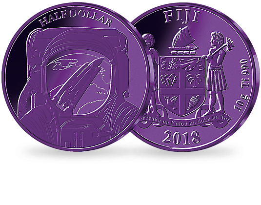 Space travel png. Cent purple titanium coin