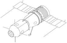Spacecraft drawing. Soyuz wikipedia k manned