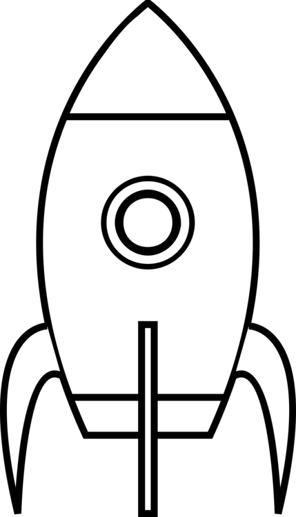 Spacecraft drawing black and white. Coloring book rocket paper