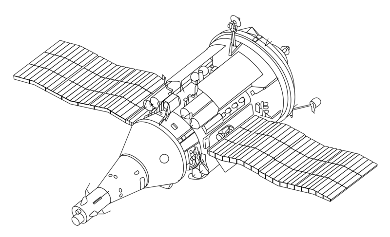 spacecraft drawing ink