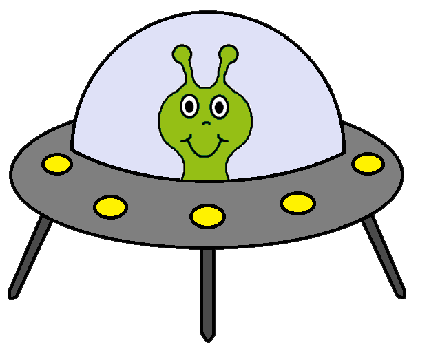 Alien . Spaceship clipart graphic library