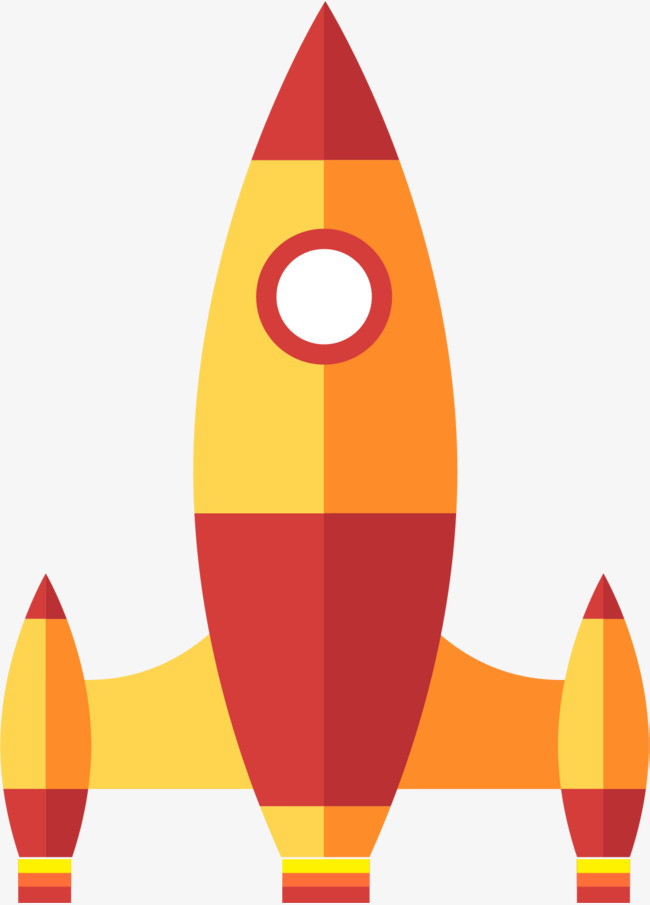 Spaceship clipart red. Cartoon yellow and space