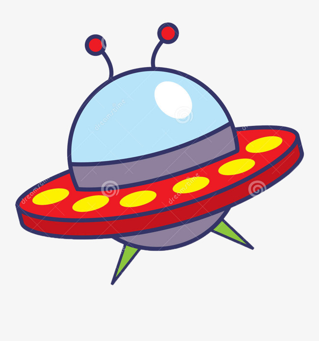 Spaceship clipart red. Cute cartoon decoration png
